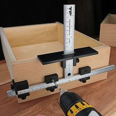 Drill Jig for Quadro IW21 Drawer Slides   Drill jig and Products