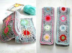 Cute idea granny square scarves