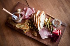 """Forequarter's charcuterie featuring meats from Madion's Underground Meats.  I love their slogan too... """"Underground Meats - Buy Curious""""!!!!"""
