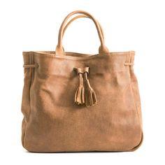 Brown Leather 'Noga' Tote Bag