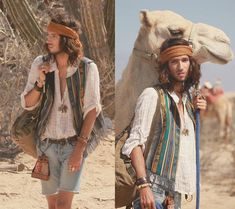 Boho Style for Men | Linen shirt traveller by Catherine