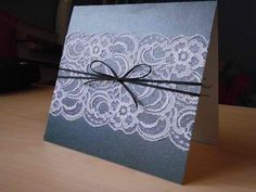 @Heather Creswell Crossman  we could have a folded top and put the lace there??  wedding invitations lace