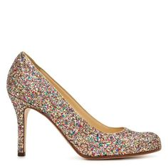 My Kate Spade glitter bag has a shoe cousin ... wondering if I should put them together for a glittery family reunion ...