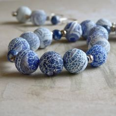 Natural Blue Fire Agate Druzy with Sodalite by StoneSongNecklaces, $112.00