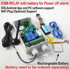 Free shipping 1pcs Seven Relay Switch Wireless GSM Remote Control box Rechargeable battery for power off alarm