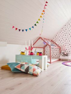 loving this kid party in the attic playroom