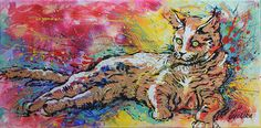 Green Eye Katze 30x15 acrylic