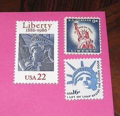 Lady Liberty II  Vintage MINT US Postage Stamps  by treasurefox, $5.00
