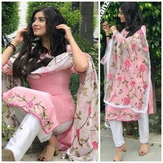 @kulwinderkaur Punjabi Dress, Punjabi Suits, Pakistani Outfits, Indian Outfits, Stylish Dresses, Simple Dresses, Colour Combination For Dress, New Style Suits, Dress Over Jeans
