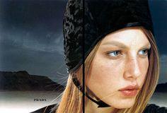 Prada Fall/Winter 1998.99: Angela Lindvall by Norbert Schoerner
