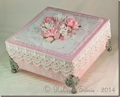 Eclectic Endeavours: Pink n Lace Gift Box for The Shabby Tea Room