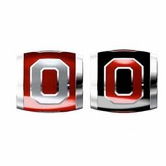 "Teagan Collegiate Collection Bead: Ohio State University Combo set. This bundle contains two Ohio State University Beads:     OSU2 Gray O on Red Bead     OSU3 Red O on Black Bead  Beads are 925 Silver and Enamel. These are ""Teagan"" beads and they are compatible with Pandora, Biagi, Zable, Brighton, Troll and many other European style bracelets."