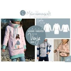 # 19 eBook - Your VANJA Kids - Hoodie - Size 74-128 - My Heart Lots of different options available on website