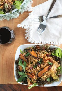 Roasted Carrot and Quinoa Salad | Girl Cooks World