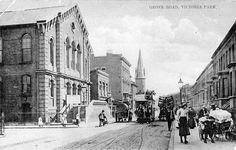 Postcard. Grove Road looking south towards Roman Road, 1910