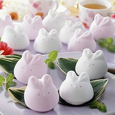 so cute! rabbit marshmallows