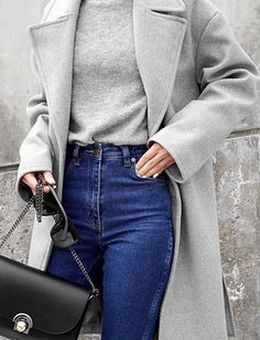 black grey and denim #omgoutfitideas #styleinspiration #outfitoftheday