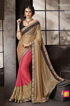 http://matwali.com/wp-content/uploads/2016/10/Matwali-Beige-and-Pink-designer-wedding-saree-crafted-with-Embroidered-work-MAT-MH018_1.jpg