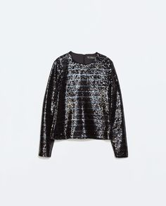 ZARA - NEW THIS WEEK - STRIPED TOP WITH SEQUINS