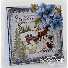 Heartfelt Creations - Sleigh Ride Scene Shaker Card Project