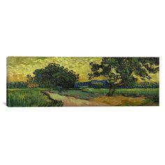 iCanvas 'Landscape at Twilight' by Vincent Van Gogh Painting Print on Canvas