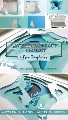 paper art Layered papercut art is all the rage right now and not only is it truly beautiful to look at but it can be incredibly relaxing to try your hand at, too! No idea where to start Weve got you covered with a full set of free printable templates! 3d Templates, Paper Cutting Templates, Templates Printable Free, Kirigami Templates, Shadow Box Kunst, Shadow Box Art, 3d Paper Art, Diy Paper, Paper Cut Out Art