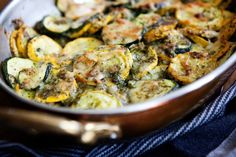 fiveandspice.com | Summer squash and rice gratin with salsa verde