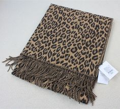 Lady Long Blanket Scarves Women Wraps Shawl Cashmere Pashmina Leopard Brown $89 in Clothing, Shoes, Accessories, Women's Accessories, Scarves, Wraps | eBay!