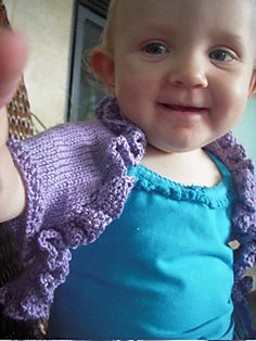 Ravelry: Band of Venus Baby Shrug pattern by Kari Marchant free pattern