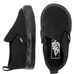 Vans Slip on Black (125 BRL) ❤ liked on Polyvore featuring shoes, slip on shoes, slip-on shoes, pull on shoes, vans footwear and black shoes