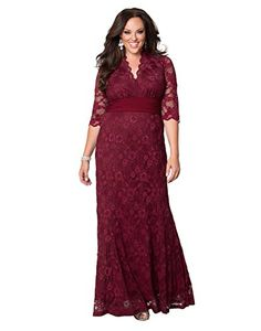 Kiyonna Women's Plus Size Screen Siren Lace Gown >>> You can get more details by clicking on the image.