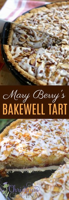 Mary Berry's Bakewell Tart Recipe and a Mincemeat Twist from Christina's Cuc. , Mary Berry's Bakewell Tart Recipe and a Mincemeat Twist from Christina's Cucina. Mary Berry Bakewell Tart, Berry Tart, Tart Recipes, Baking Recipes, Snack Recipes, Dessert Recipes, Great British Bake Off, Christmas Tarts Recipe, Tarta Bakewell