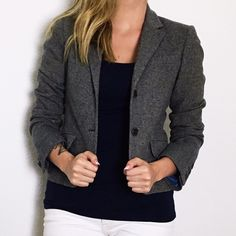Grey Tweed Theory Blazer Beautiful grey/blue tweed blazer that is perfect for layering any look. Worn once, like new condition. Theory Jackets & Coats Blazers