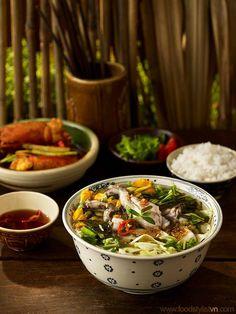 Canh chua ếch nấu bông so đũa | Client: Phương Nam Book | Photograph by: Wing Chan at BITE Studio | Food & Prop Stylist: Tiến Nguyên