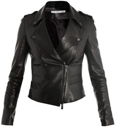 Perfector Leather Biker-Jacket - Lyst