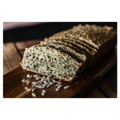 A tasty alternative to bread with wheat and gluten. For best results toast the bread and spread with your favourite hummus, avocado or tapenade. Breakfast Dessert, Dessert For Dinner, Blender Food Processor, Food Processor Recipes, Pumpkin Hummus, Bread Alternatives, Seed Bread, Healthy Seeds, Main Dish Salads
