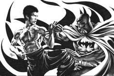 Bruce vs Bruce by Mike Deodato Jr. #comic #batman #brucelee