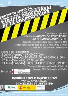 Formación para la obtención de la tarjeta profesional de la construcción.