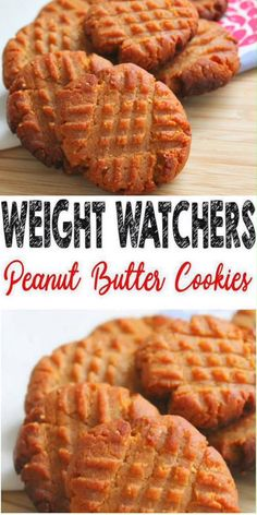 Weight Watchers 3 Ingredient Peanut Butter Cookies – BEST WW Recipe – Dessert – Treat – Snack with Smart Points Weight Watchers Desserts! No NEED to spend hours baking a Weight Watchers desserts recipe when you can make these delicious & easy 3 ingredi Weight Watcher Snacks, Weight Watcher Cookies, Plats Weight Watchers, Weight Watcher Breakfast, Weight Loss, Keks Dessert, Tiramisu Dessert, Dessert Dips, Desert Recipes