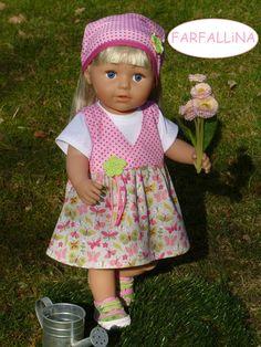 Baby Born 43 cm 2 tlg Set Puppenkleidung: Strampler und Schuhe für Puppe ca