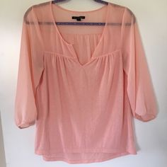 American Eagle Blouse Flowing blouse from American Eagle! Worn, but has life left! American Eagle Outfitters Tops Blouses