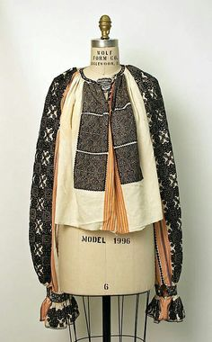 Search the Metropolitan Museum's Collection Online. Folk Fashion, Ethnic Fashion, Fashion Art, Vintage Fashion, Fashion Outfits, Bohemian Fashion, Folk Embroidery, Embroidery Stitches, Folk Costume