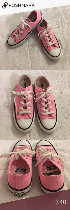 Pink Converse size 6 Pink Converse shoes. Size 6. Worn several time, in excellent condition! Converse Shoes Sneakers