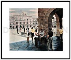 Acuarela, Salamanca.