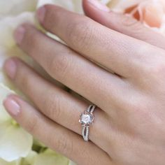 """""""If I had a flower for every time I thought of you... I could walk through my garden forever."""" ~ Alfred Tennyson  How many flowers are in your garden?  Forever Elegant™ - Floral Collection FE17A26 FE17A26W - matching wedding band (not shown)"""
