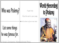 World According to Potlemy minibook. 5 Days of Learning Printables:The World of Columbus and Sons Day 4 For Middle and High School Teaching Geography, World Geography, Teaching History, History Activities, Activities For Kids, Middle Ages History, Sons Day, High School, School Life