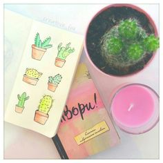 Идеи для личного дневника - ЛД Cactus Drawing, Drawing S, Cute Pictures, Beautiful Pictures, Doodle Art Journals, Wreck This Journal, Diy And Crafts, Crafty, Painting