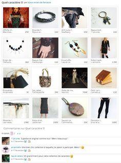 Collection Quel caractère ! par Bijoux Eclats de fantaisie http://www.alittlemarket.com/collection/quel_caractere_-380273.html