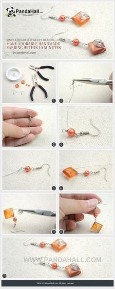 Jewelry Making Tutorial--Make Wire Wrapped Earrings within 10 Minutes | PandaHall Beads Jewelry Blog