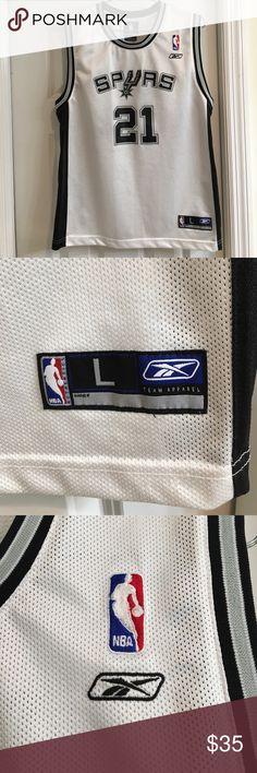 San Antonio Spurs Tim Duncan Reebok Jersey San Antonio Spurs Tim Duncan  Reebok Home Replica Jersey White 4241687a9